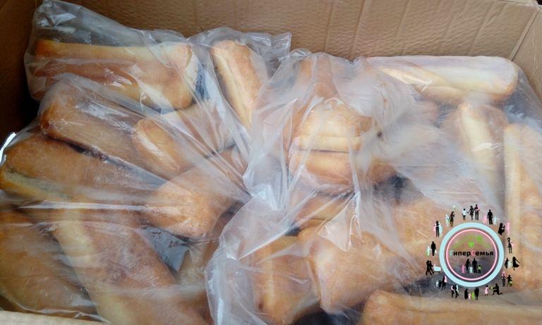 Раздача хлебобулочных изделий